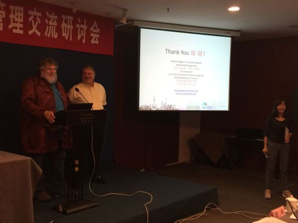 Heinz-Peter Mang, University of Science and Technology - Beijing, (left) and Mark Hudgins, GeoCost (right)